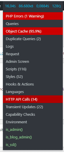 Painel do WordPress lento